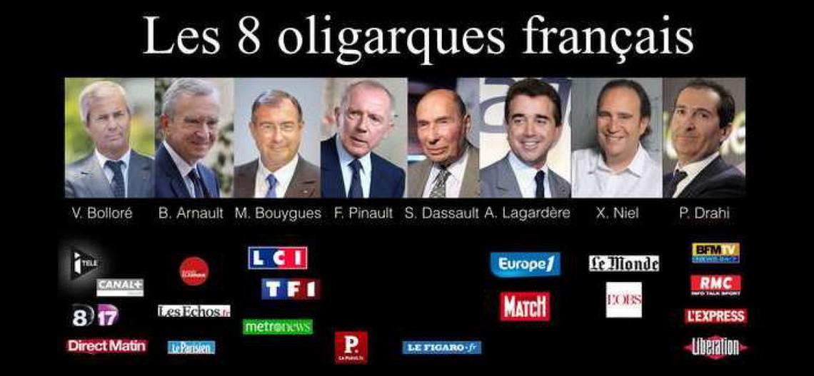 les 8 oligarques des médias français